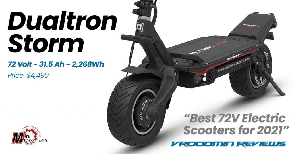 Best 72V Electric Scooter Dualtron Storm