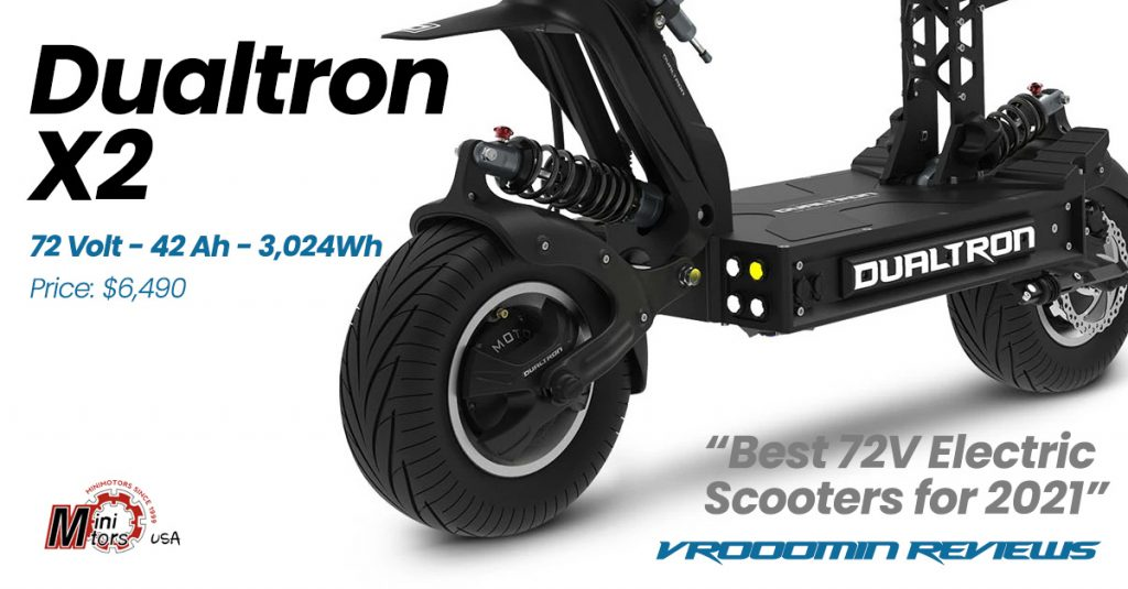 Best 72V Electric Scooter Dualtron X2