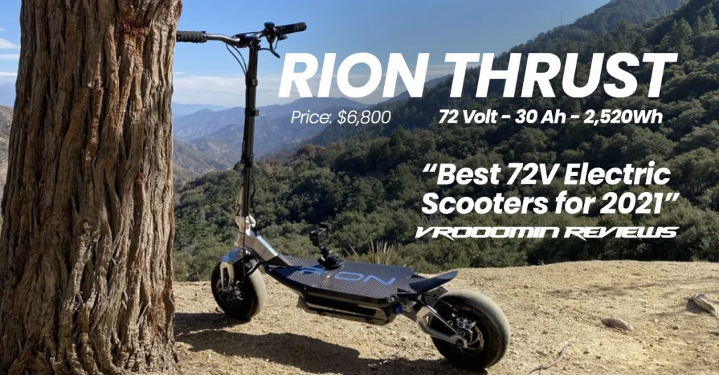 Best 72V Electric Scooters  Rion Thrust