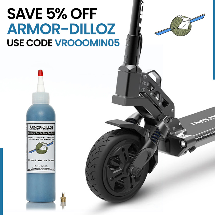 Save 5% off Armor-Dilloz with Coupon Code VROOOMIN05