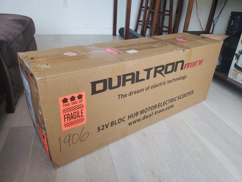 Dualtron Mini in box