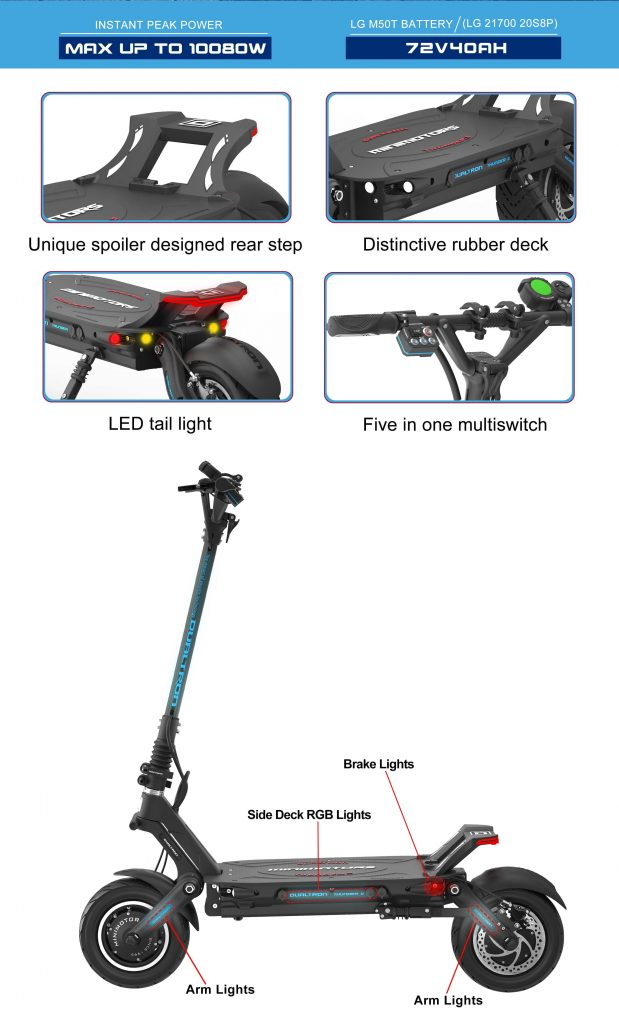 Dualtron Thunder 2 Electric Scooter Features