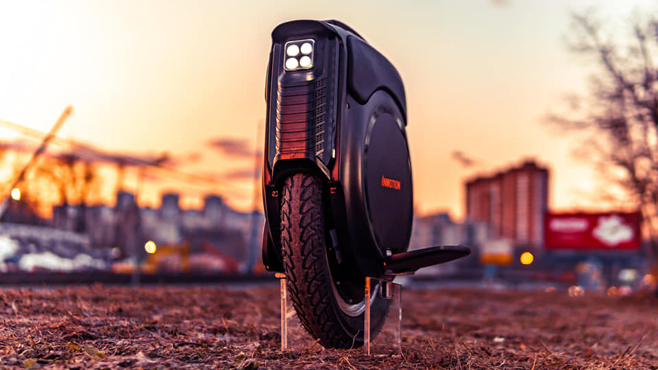 Inmotion V12 Electric Unicycle Front View