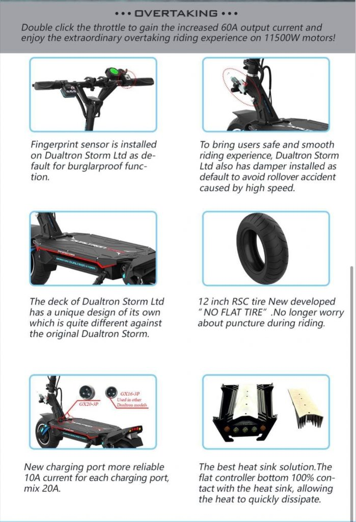 Dualtron Storm Electric Scooter Features