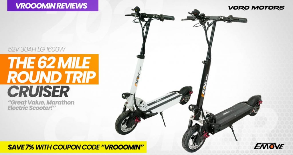 EMOVE Cruiser Electric Scooter White and Black Models