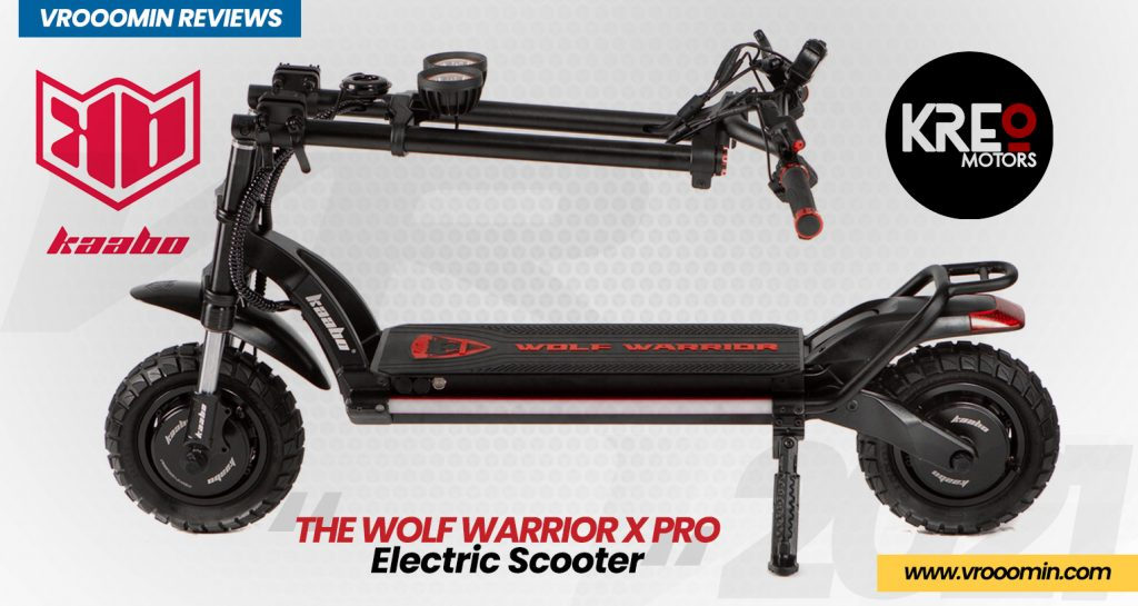 Kaabo Wolf Warrior X Pro Electric Scooter folded