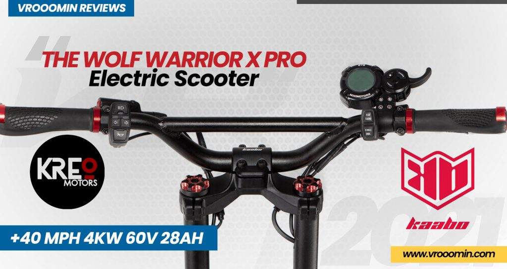 Kaabo Wolf Warrior X Pro Electric Scooter front handlebars