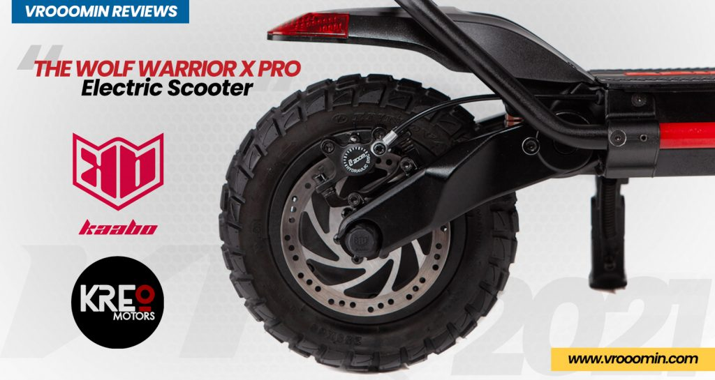 Kaabo Wolf Warrior X Pro Electric Scooter front rear motor