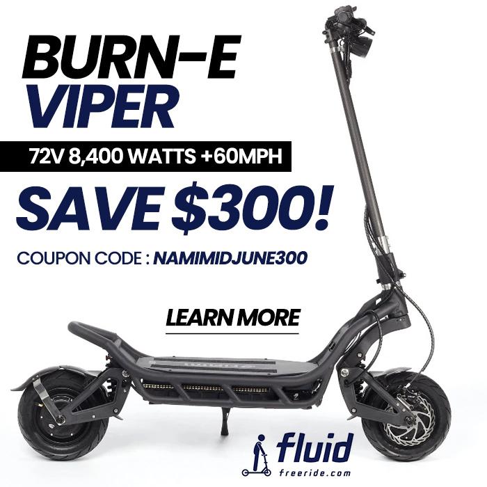 Nami Burn-E Viper Electric Scooter on Sale