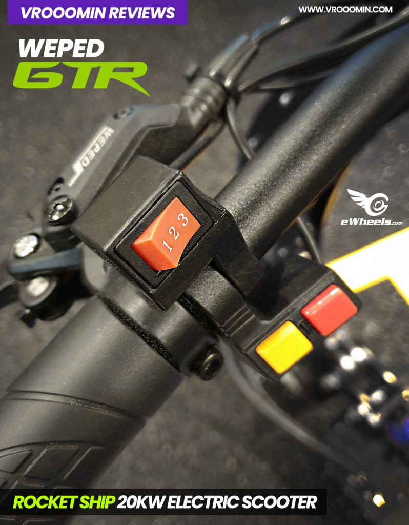 Weped GTR Electric Scooter Controls