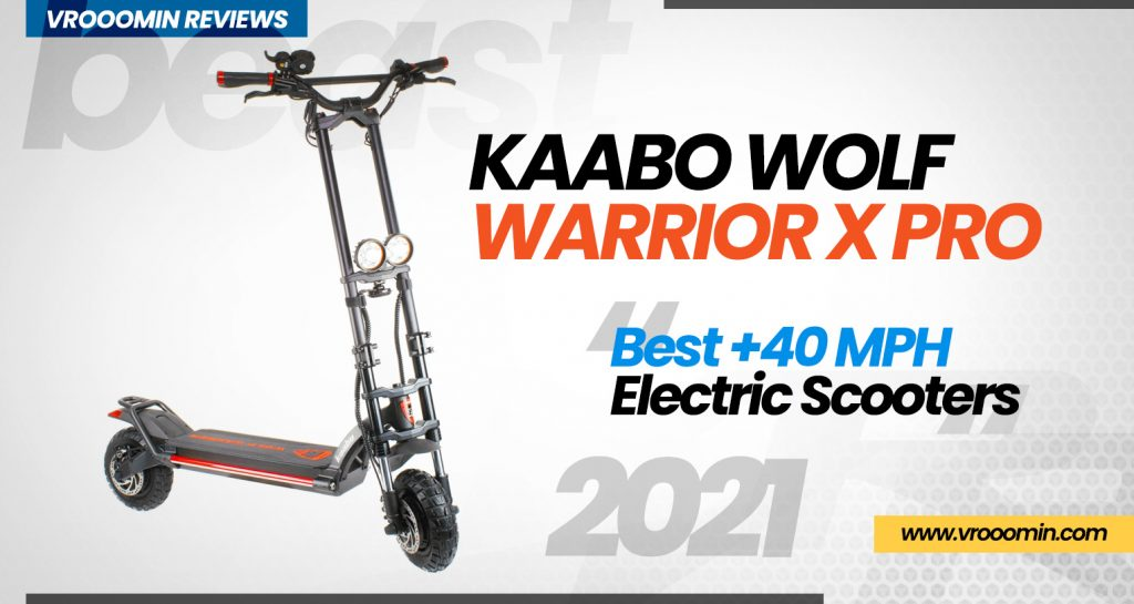 Wolf Warrior X Pro Electric Scooter - Best 40 MPH Elecrtric Scooters