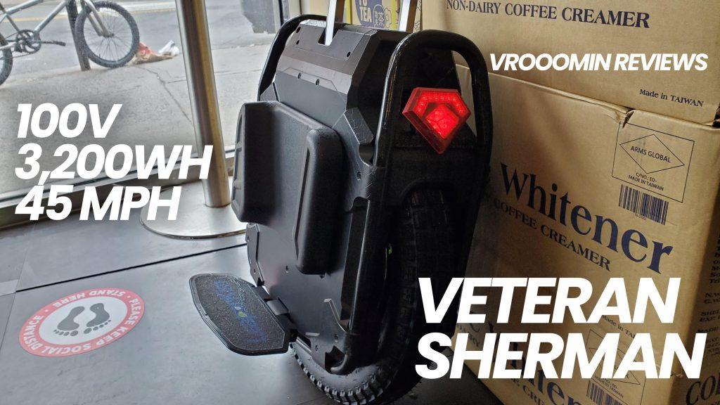 Veteran Sherman Electric Unicycle - Back View