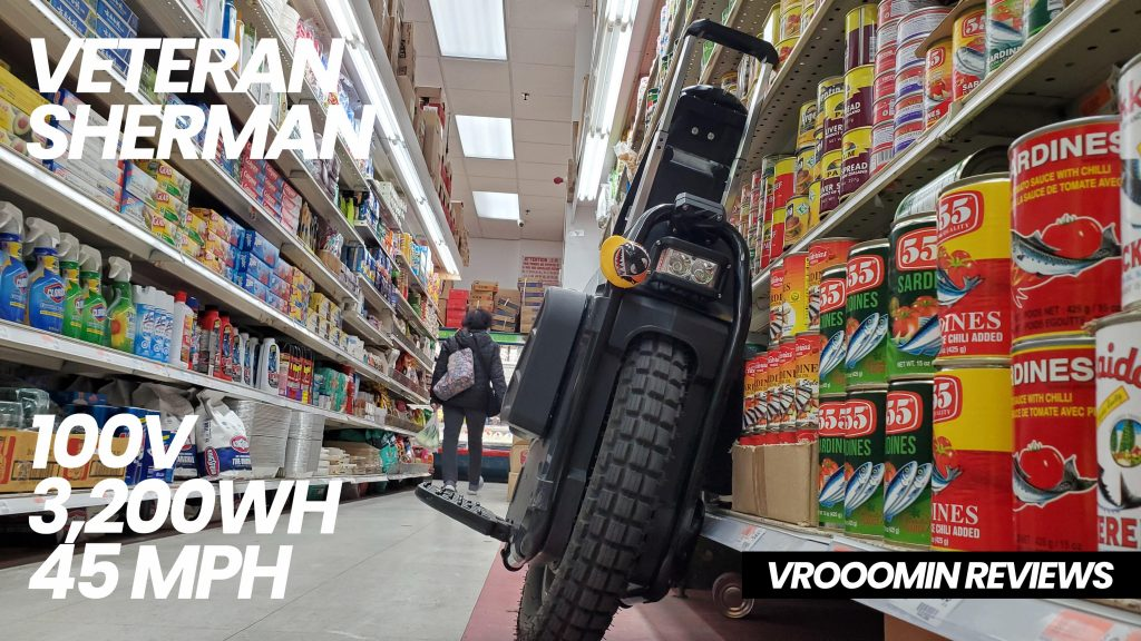 Veteran Sherman Electric Unicycle - Front View